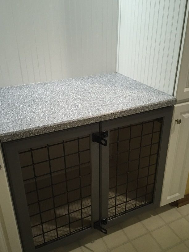 built in dog crate | Dog beds | Pinterest | Laundry rooms ...