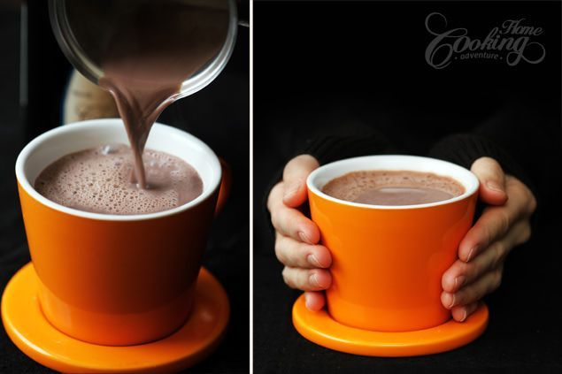 Hot Chocolate with Red Wine :: (cross ref to original Saveur recipe with chocolate instead of cocoa)