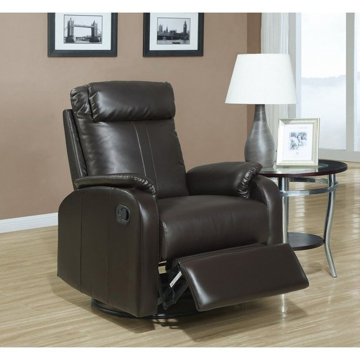 monarch alen leather swivel recliner i 8081br - Leather Rocker Recliner