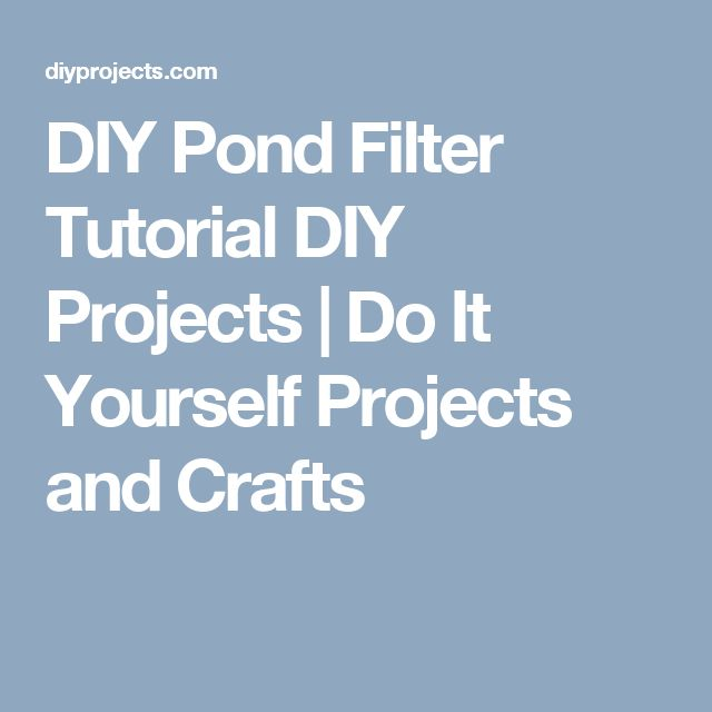 1000 ideas about pond crafts on pinterest preschool for Do it yourself pond filter