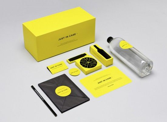 "Just in Case #Kit. Menosunocerouno thought humorously ""Just in Case"". As a preventive measure for the #end of the #world expected this year, this package designed by Mexican designers has everything needed for survival, all with a successful design."