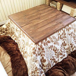 コタツの天板×旦那とDIYのインテリア実例 | RoomClip (ルームクリップ) My Desk/DIY/コタツ/コタツの天板/旦那とDIYに