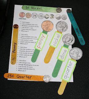 CoinsMoney Activities, Classroom Freebies, Math Ideas, Coins Popsicles, Kids, Pk 2 Coins, Popsicle Sticks, Popsicles Sticks, Crafts Sticks