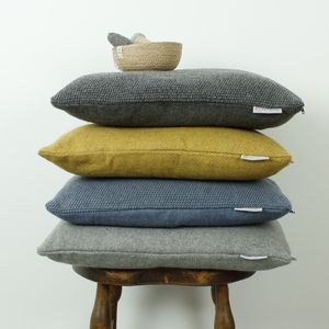 "Recycled Wool Cushions | Introducing #Hygge – our favourite new excuse to snuggle under a chunky knit with a cup of cocoa. Pronounced ""hooga"", this Danish trend is all about embracing cosiness and enjoying the good things in life surrounded by your favourite people. That definitely sounds like something we can get on board with."