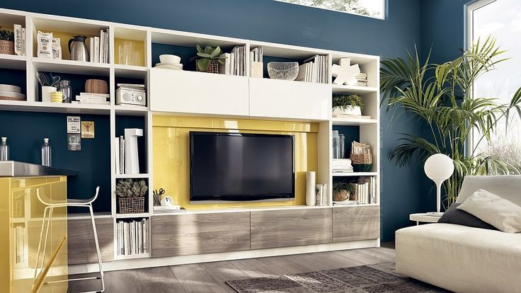 Living room wall unit with versatile storage solutions - Decoist
