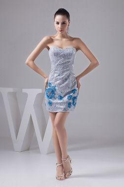 shinny column dress