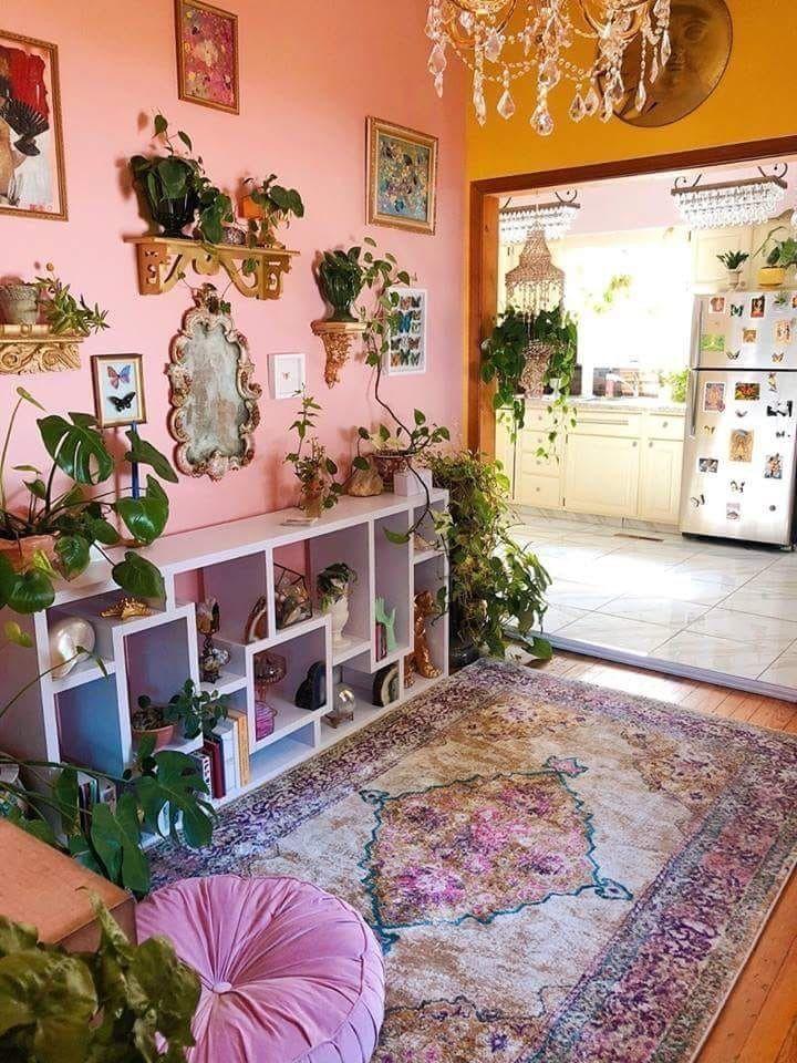 Idea By Sultan On Simply Diy Boho Living Room Decor Pink Home Decor Boho Living Room