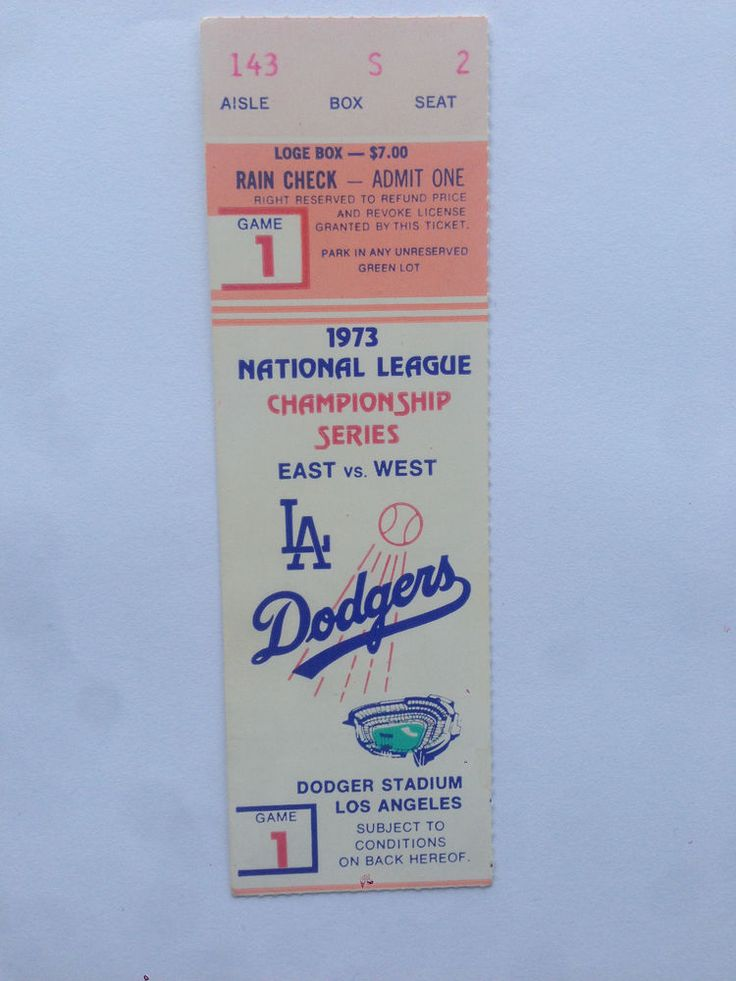 two phantom la #Dodgers tickets for 1973 nlcs from $7.7