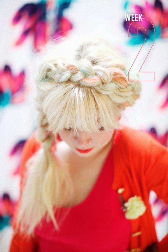 chalk braid  |  designlovefest: Chalk Braid, Fashion, Colored Hair, Hair Styles, Hair Braids, Braid Hairstyles, Braided Hairstyles, Hair Color