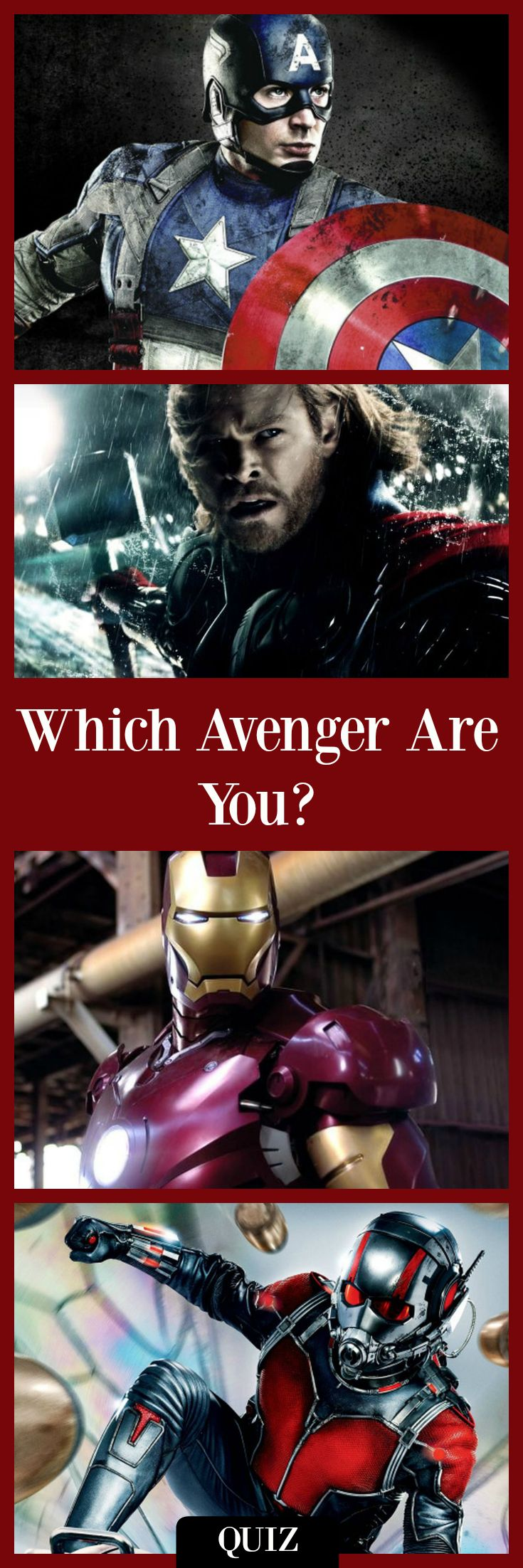 Which Avenger are You?  Marvel characters quiz, Marvel quiz, Avengers quiz