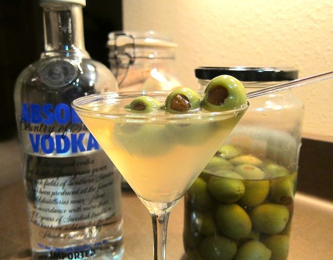 Extra Dirty Martini - this looks so YUMMY right now!