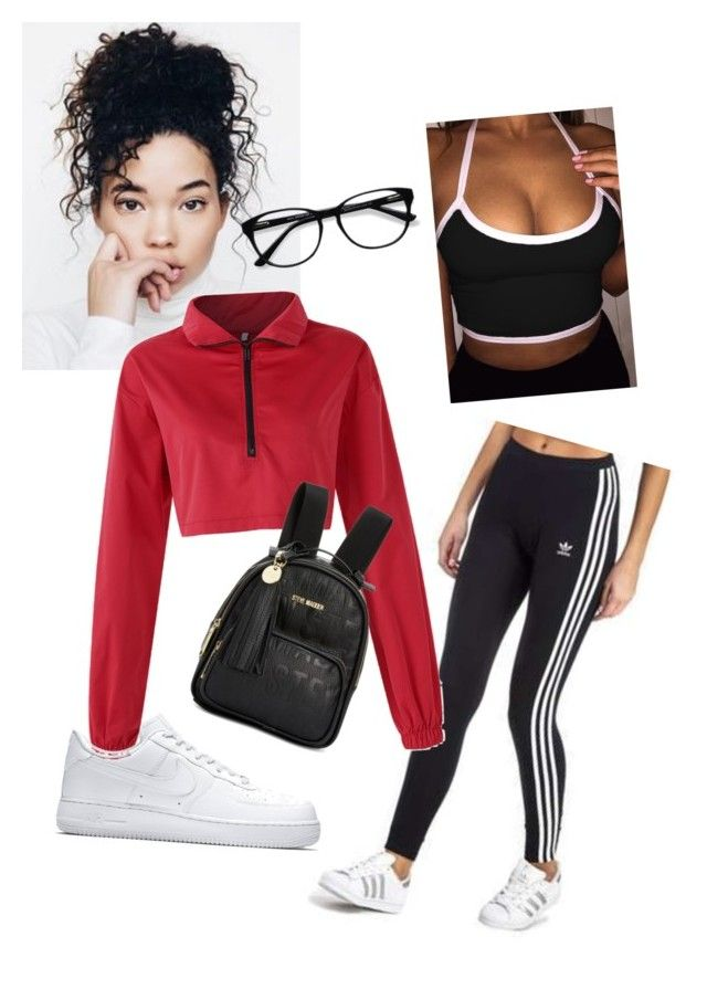 U0026quot;winter rap concert outfitu0026quot; by candykelly02 on Polyvore featuring adidas Originals Steve Madden ...