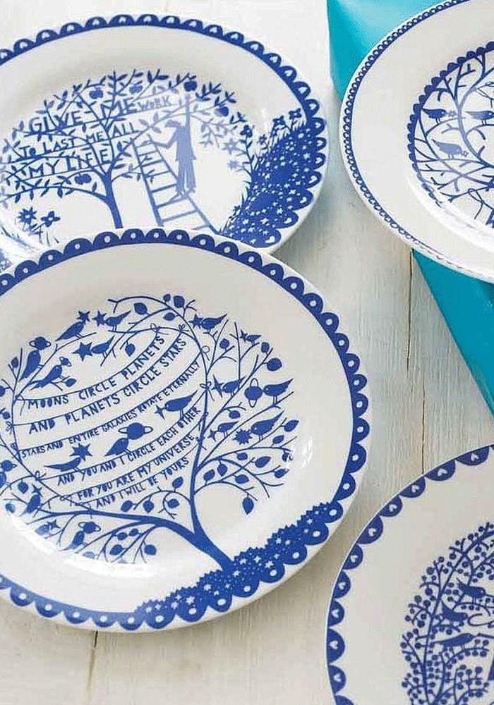 Rob Ryan Four SUMMER Plate u2014 Bodie and Fou - Award-winning inspiring concept store  sc 1 st  Pinterest & 78 best 101 ideas for wall plates images on Pinterest | Decorative ...