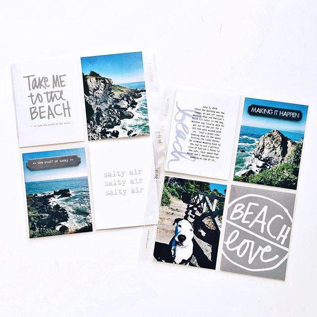 "Layout using the digital ""Beach"" stamp set by @aliedwardsdesigninc. I don't know about you, but this is a must-have set as far as my photos are concerned!"