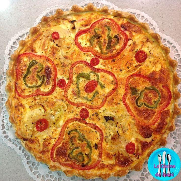 Quiche de verduras y tomate