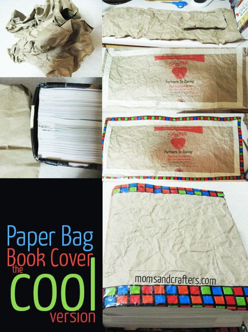 paper bag book cover - Back to School DIY
