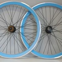 Light Blue Single Speed and Fixed Gear Wheelset SALE
