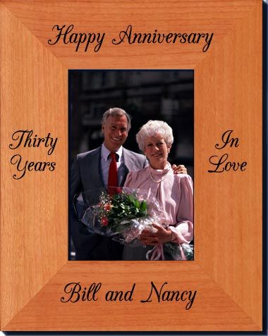 personalized anniversary picture frames solid wood laser engraved picture frames starting at 2336 great