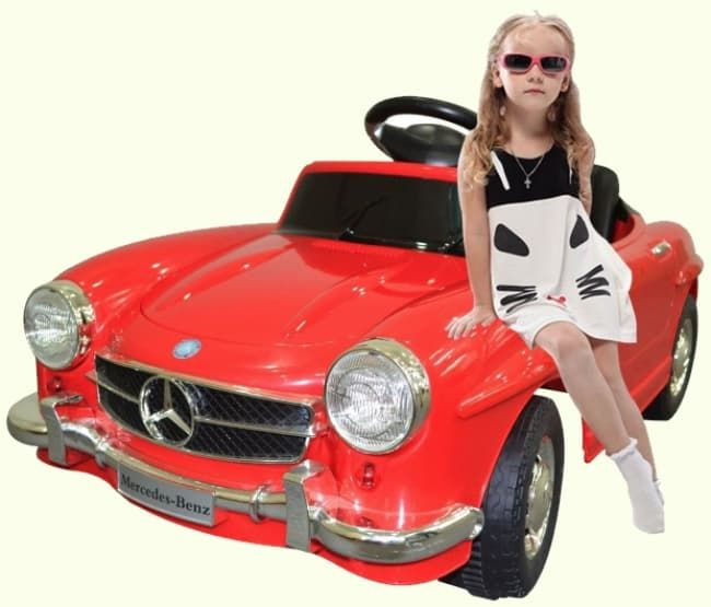 classic mercedes benz sl300 style kids electric ride on car