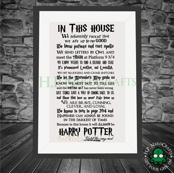 We doen de Harry Potter  VINYL BELETTERING ALLEEN door HPNerdCrafts