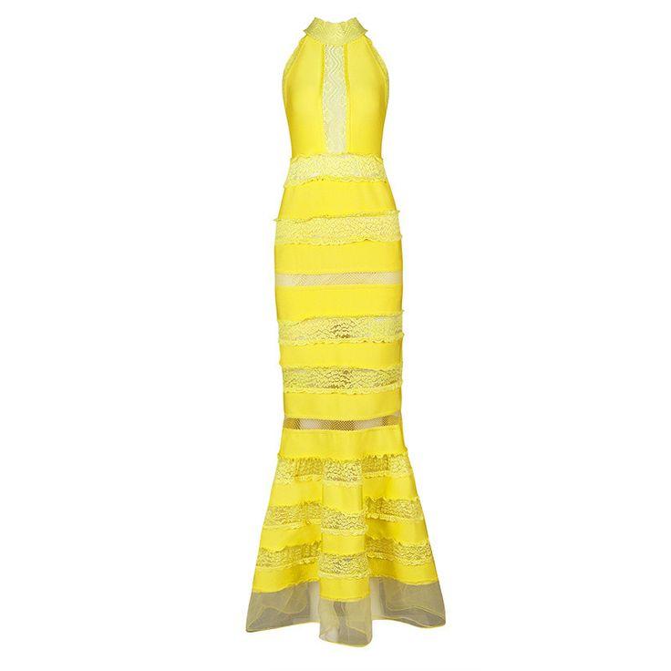 Sleeveless Lace Sheath Bandage Dress