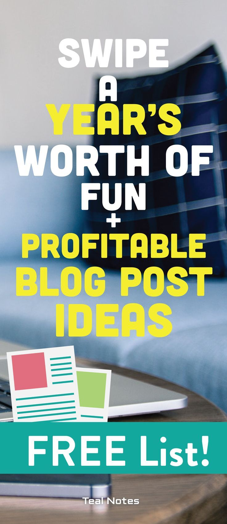 Ever completely out of ideas on what your next fun and profitable blog post will be? Here is a template type list to get you out of your blog post idea rut! Whether you're a lifestyle, beauty, parenting, or travel blogger you are bound to get valuable tips and tricks from this handy creative list! Keep this list in your bookmarks bar for easy access! Teal Notes | Make Money Blogging | Legit Blog Post Ideas | Blog Post Idea List |
