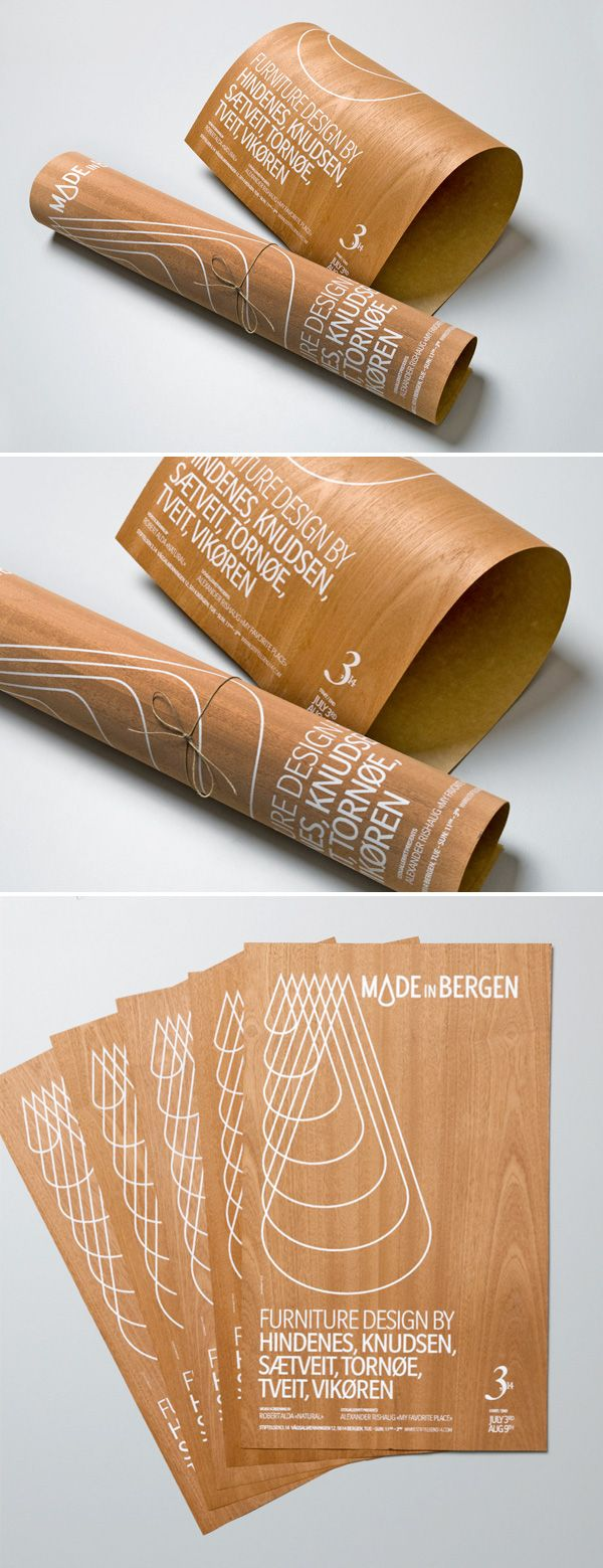 A poster that inspirited from the texture of the wood  http://www.designlovefest.com/