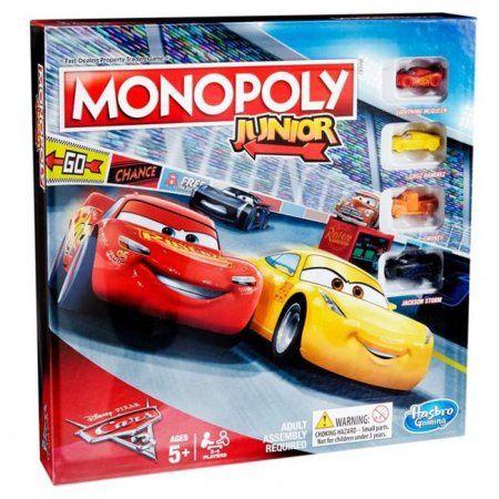 Cars 3 Monopoly Junior, Multicolor