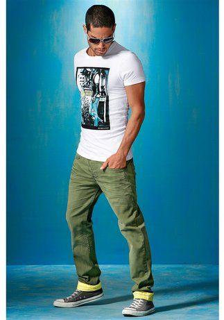 """Jeans """"CHICO"""" von One Green Elephant Robuste und pflegeleichte Qualität aus Baumwolle Kontrastfarbe auf der Innenseite Toll zum Krempeln Trend der Saison: Color Denim"""