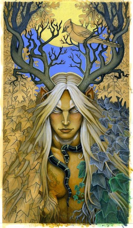 """Patron God: Cernunnos Art By WIP """"Lord of the Wilds."""""""