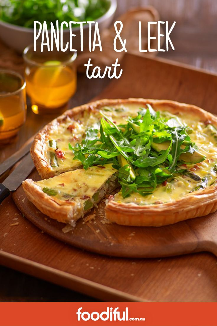 Salt pancetta works well with sweet leek in this creamy, easy-to-share brunch. Using puff pastry, it takes 1 hr and 20 mins to make and serves 8 people.