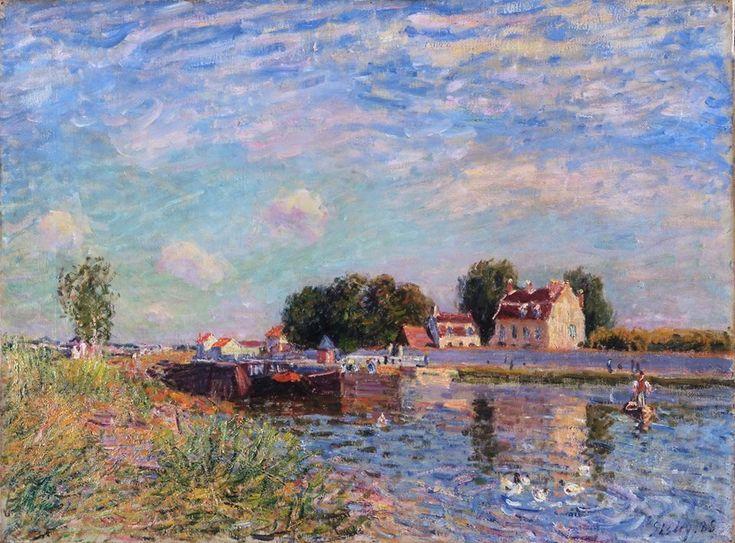 """The Canal At Saint-Mammes,"" Alfred Sisley, 1885"