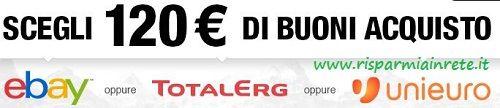 apri #webank entro fine anno, in regalo 120 euro   http://www.risparmiainrete.it/conto-webank-ti-regala-120e-di-buoni-acquisto-ebay-o-totalerg-o-unieuro/