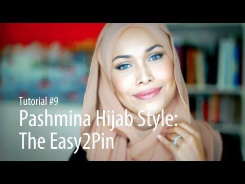 [Adlina Anis] Hijab Tutorial 9 | The Easy2Pin... shame about the music ..