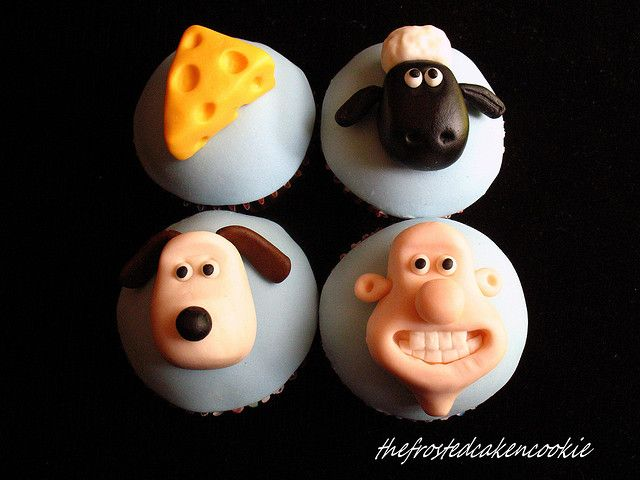Tuesday Toppers: Wallace and Gromit Cupcakes by jewelsb78(thefrostedcakencookie), via Flickr