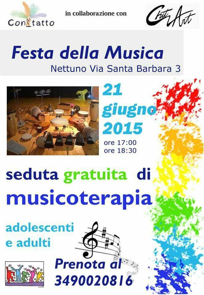 Sessione gratuita di musicoterapia per la festa della musica con Musical ChitArt