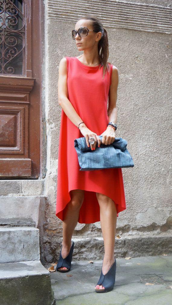 NIEUWE Maxi jurk / koraal Viscose Kaftan / extravagante lange