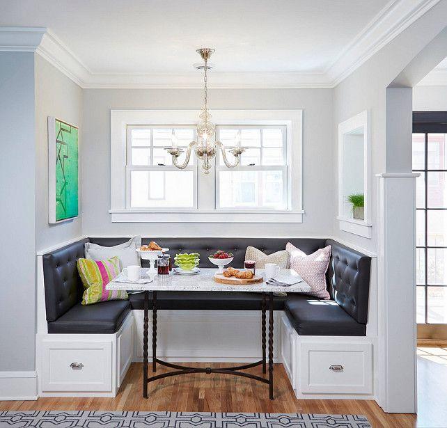 Bistro Style Kitchen with Breakfast Nook. http://messagenote.com/interior-inspiration/interior-designs-of-the-week