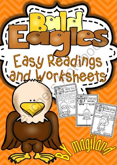 Bald Eagle ( Ready to Print Easy Readings and Worksheets) from Magiland on TeachersNotebook.com -  (19 pages)  - This Thematic Unit contains different sets of Printables including easy reading passages with facts about Bald Eagles
