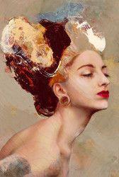Lita Cabellut - Contemporary Artist - Portrait - Coral Girls 15