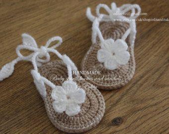 Crochet baby sandals gladiator booties shoes por editaedituke