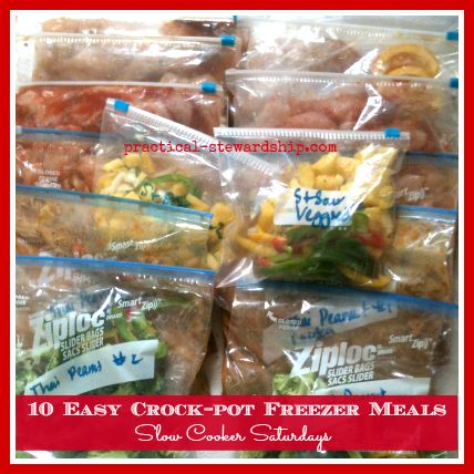 *** First attempt, these are really simple. 10 Easy Crock-pot Chicken Freezer Meals