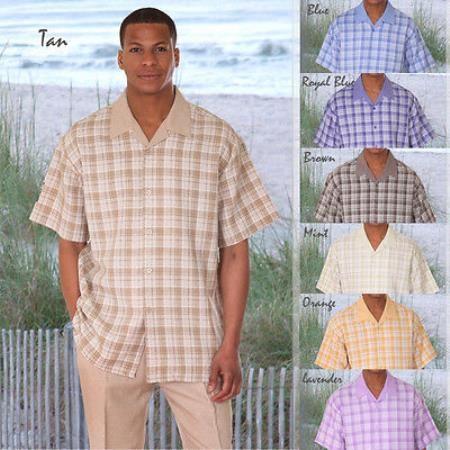 Contraste Comprobar patrón primavera traje caminando para los hombres en 75 dólares