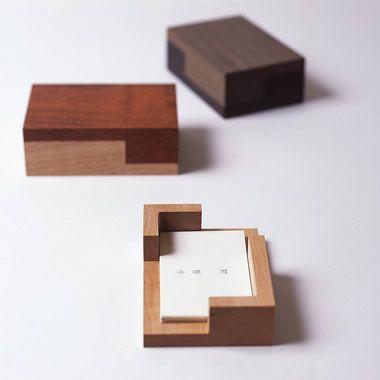 business card desk box