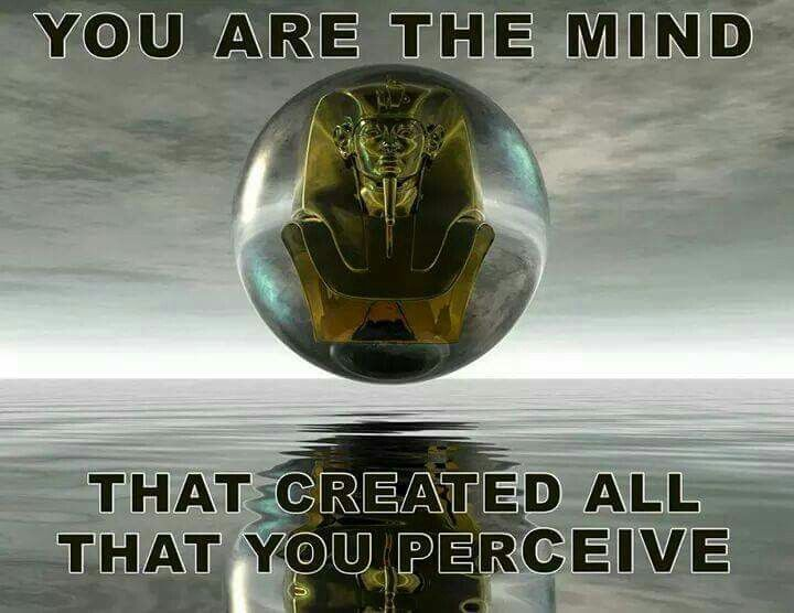 We create what we see with our mind