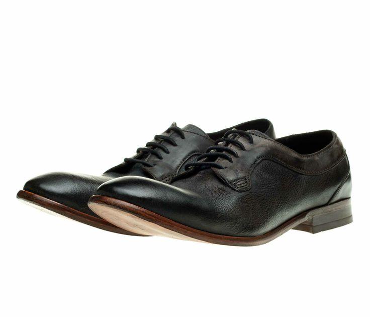 Классические мужские туфли из натуральной кожи H by Hudson Gould на шнуровке! 2 445 грн