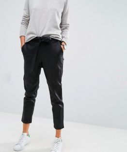 ASOS Leather Look Joggers with Tie