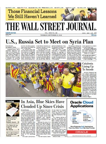 The Wall Street Journal (Europe) September 12 2013 9,7 MB | PDF | Retail | 32 Pages | english
