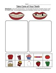 clean teeth worksheet 2