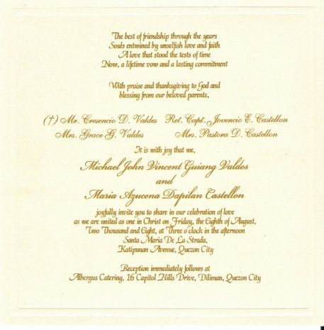 25 ide terbaik Wedding invitation wording samples di Pinterest